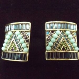 Heidi Daus Turquoise Clip On Earrings